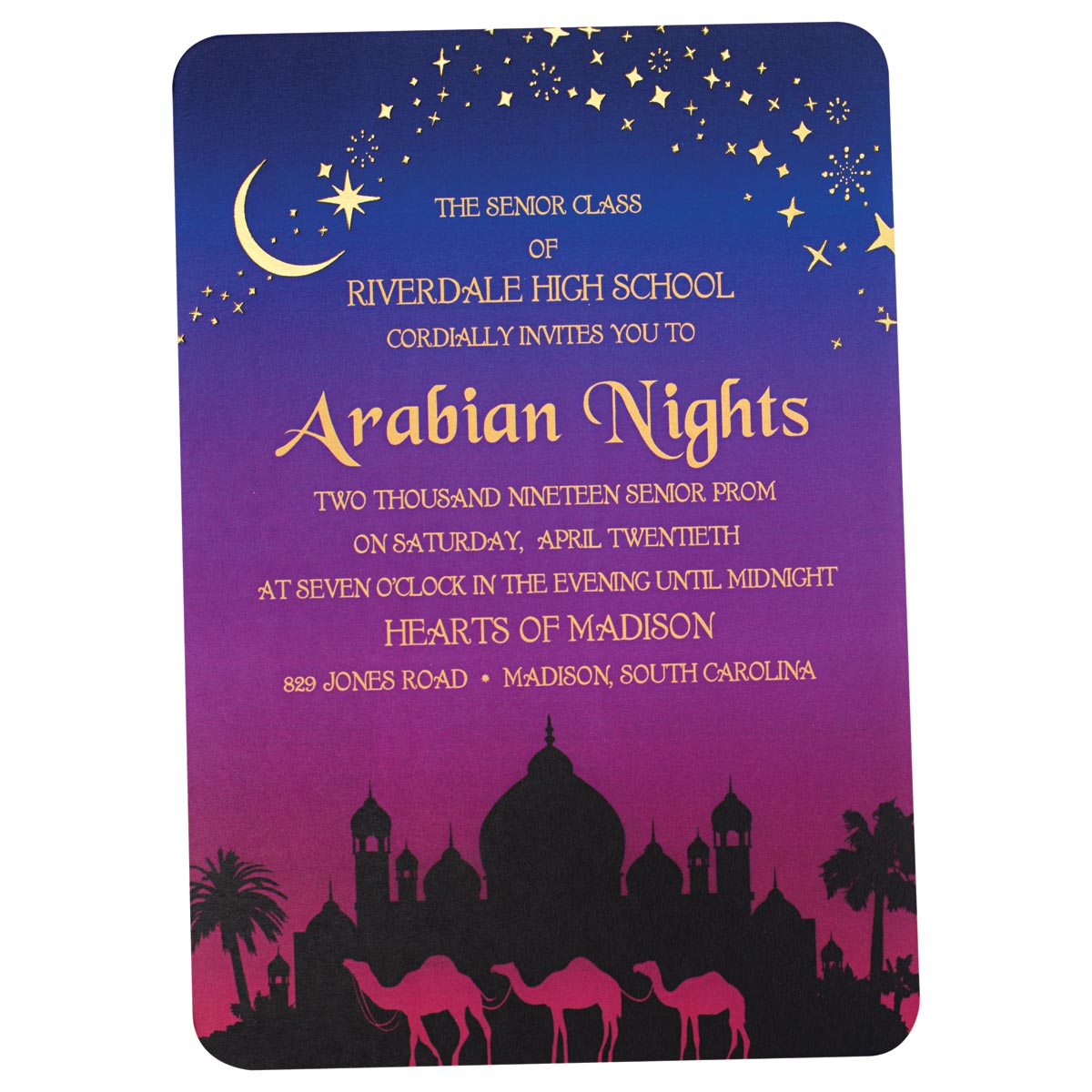 Arabian Night Invitation Andersons