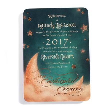 Moon and Stars Invitation