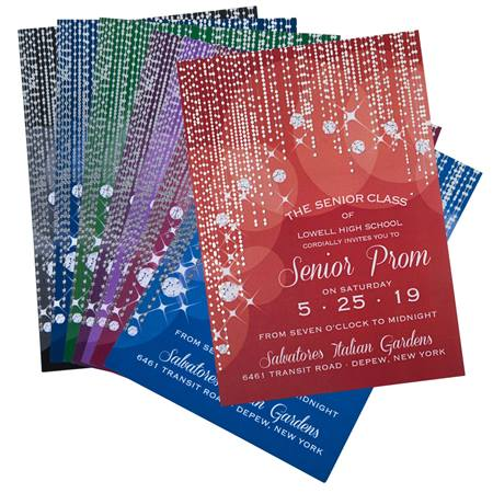 Diamond Curtain Invitation