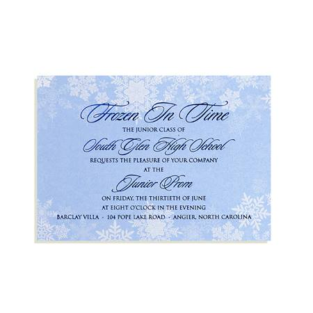 Frozen Flakes Invitation