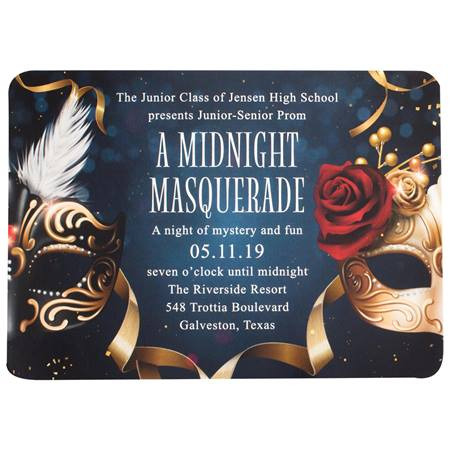 Elegant Masks Prom Invitation