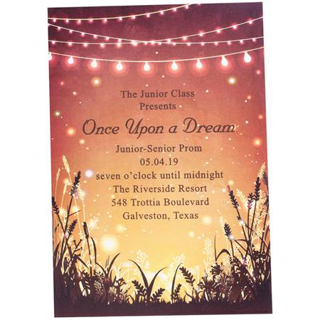 Harvest Night Prom Invitation