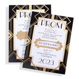 Gold Art Deco Scratch-Off Invitation