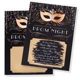 Gold Masks Scratch-Off Invitation
