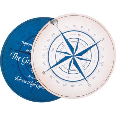 Nautical Compass Twisting Invitation