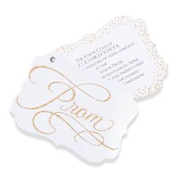 Gold Glitter Twisting Invitation