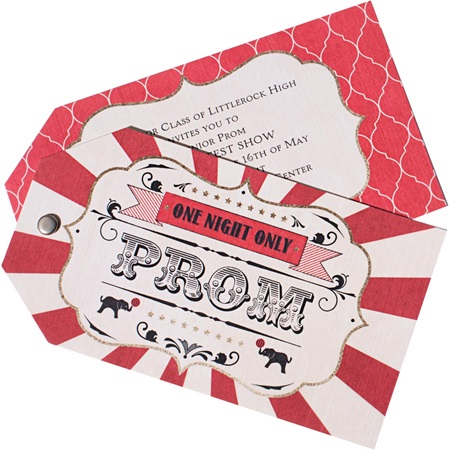 Circus Twist and Reveal Invitation