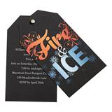 Fire & Ice Twist and Reveal Invitation