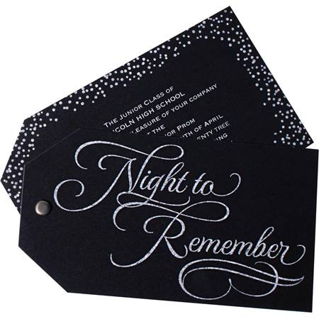 Night to Remember Twist and Reveal Invitation