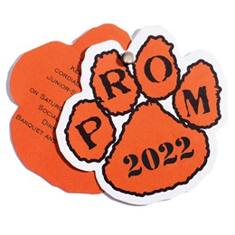 Paw Twist Prom Invitation - Black/Orange
