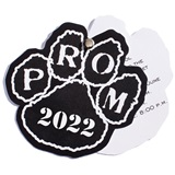 Paw Twist Prom Invitation - Black/White
