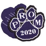 Paw Twist Prom Invitation - Blue/White