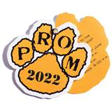 Paw Twist Prom Invitation - Gold/Black