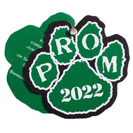 Paw Twist Prom Invitation - Green/White