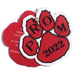 Paw Twist Prom Invitation - Red/Black