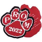 Paw Twist Prom Invitation - Red/Black/White