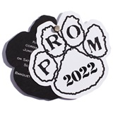 Paw Twist Prom Invitation - White/Black