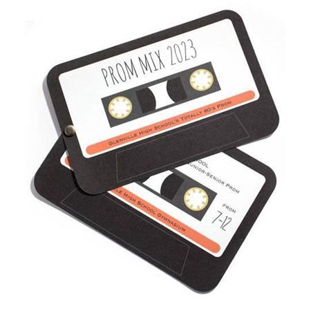 Cassette Tape Twist Invitation Anderson S