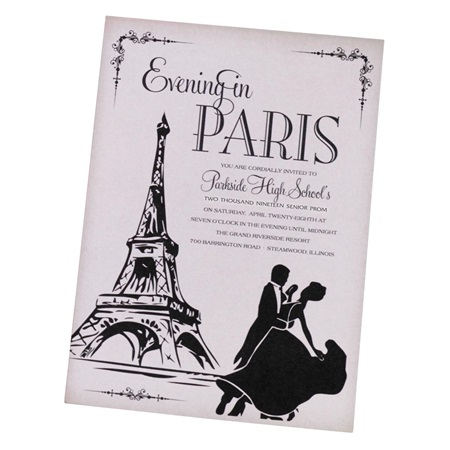Tango In Paris Invitation
