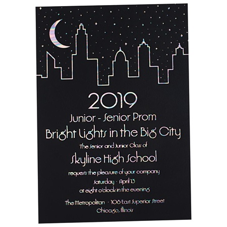 Big City Chic Invitation