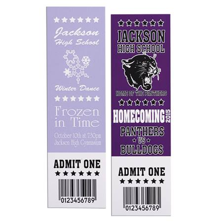 Full-color Homecoming Ticket - Vertical/No Photo
