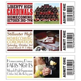 Full-color Homecoming Ticket - Horizontal with Photo