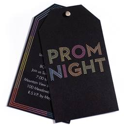 Bright Lights Twisting Invitation