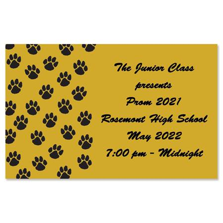 Full-color Ticket - Paw Print