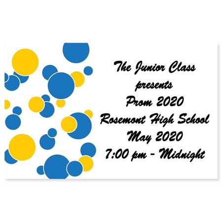 Full-color Ticket - Blue and Gold Bubbles