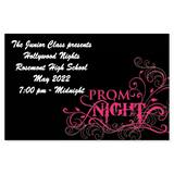Full-color Ticket - Prom Night Scroll