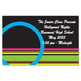 Full-color Ticket - Circle and Stripes