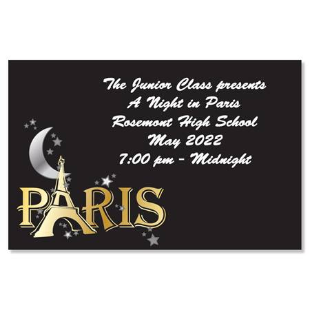 Full-color Ticket - Moon Over Paris