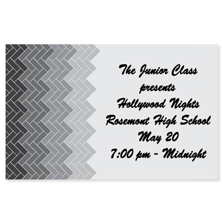 Full-color Ticket - Grayscale Chevrons