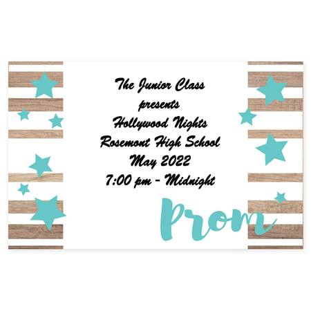 Full-color Ticket- Teal Prom and Stars