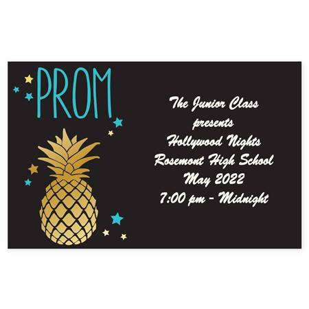 Full-color Ticket- Pineapple Prom