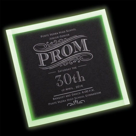 Cosmo Glow Invitation - Black