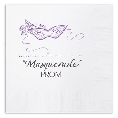 Purple Mask Luncheon Napkin