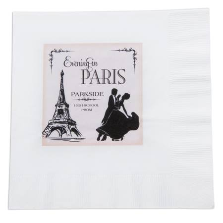Tango in Paris Luncheon Napkin