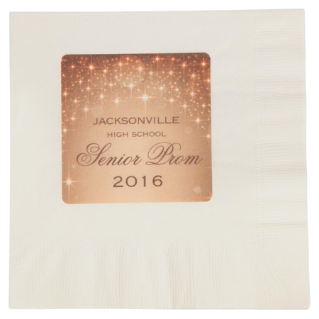 Gold Sparkle Luncheon Napkin