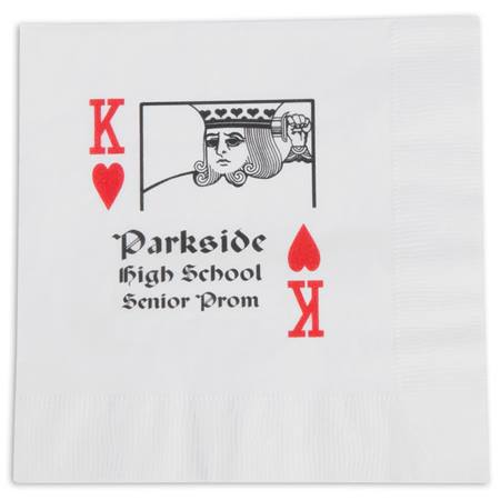 King of Hearts Luncheon Napkin