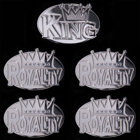 Silver King and Royalty Belt Buckle Set