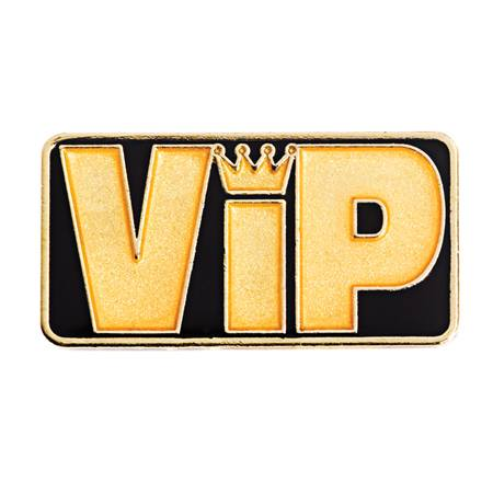 VIP Pin - Black/Gold
