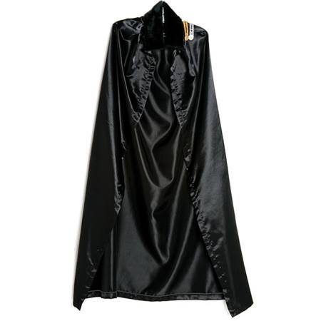 Black Satin Robe with Black Collar