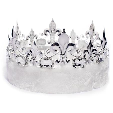 Fleur-de-Lis Crown - White Fur | Anderson's