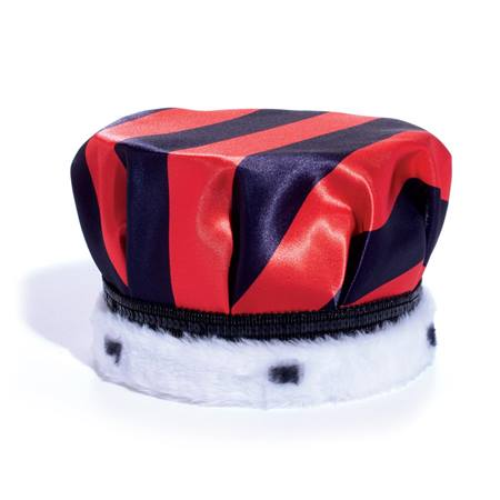 Full-color Crown - Red and Black Striped