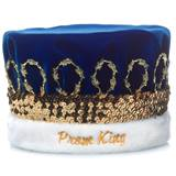 Velvet Prom King Crown/Gold Band
