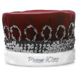 Velvet Prom King Crown/Silver Band