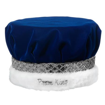 Prom King Crown with Silver Band and Embroidery