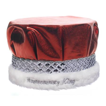 Embroidered Metallic Homecoming King Crown - Silver Band