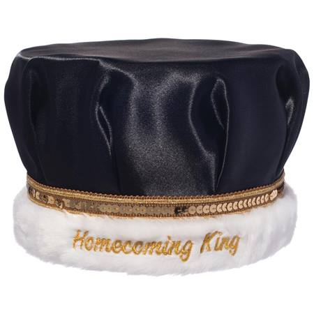 Embroidered Homecoming King Crown with Gold Band